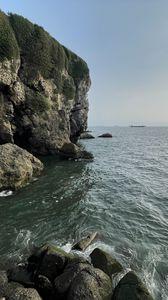 Preview wallpaper ocean, rock, stones, waves