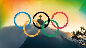 Preview wallpaper olympic games rio 2016, rio de janeiro, brazil, corcovado