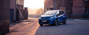 Preview wallpaper opel ampera, opel, car, blue