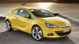 Preview wallpaper opel, astra, gtc, yellow, side view