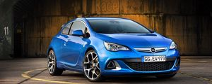 Preview wallpaper opel, astra, side view, blue