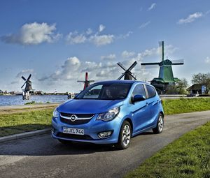 Preview wallpaper opel, blue, side view