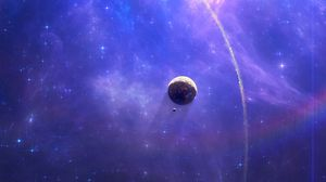 Preview wallpaper open space, nebula, planets, stars, bright, shining