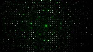 Preview wallpaper optical illusion, dots, glow, green, dark