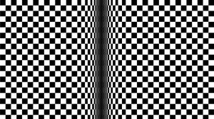 Preview wallpaper optical illusion, illusion, bw, lines, cubes, movement