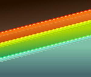 Preview wallpaper orange, blue, green, form