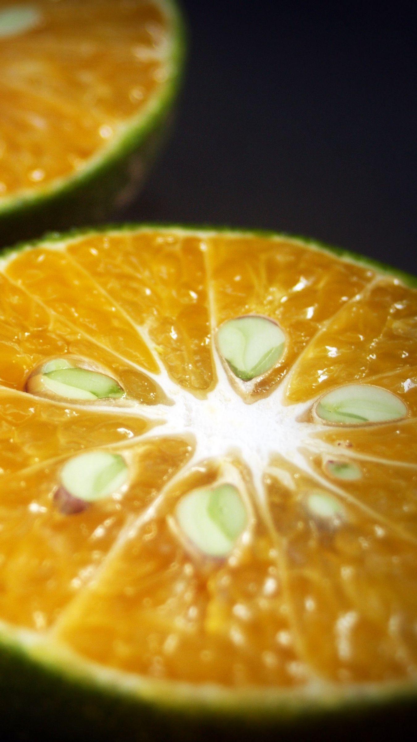 1350x2400 Wallpaper orange, citrus, cut