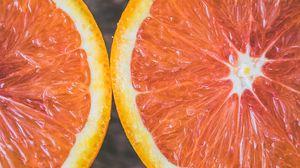 Preview wallpaper orange, citrus, cut, ripe