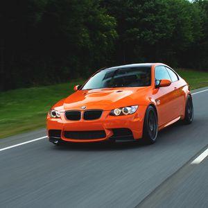 Preview wallpaper orange, e92, speed, bmw, m3