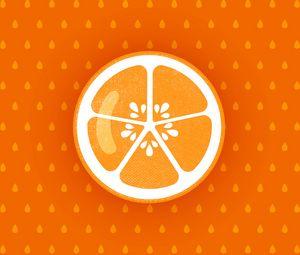 Preview wallpaper orange, fruit, citrus, art, vector