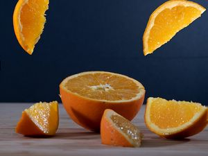 Preview wallpaper orange, fruit, citrus, slices, juicy