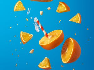 Preview wallpaper orange, fruit, citrus, slices, juicy, bright