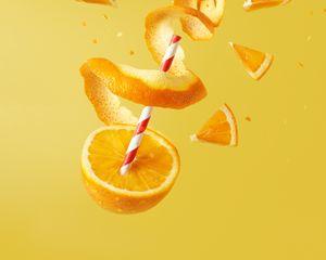 Preview wallpaper orange, fruit, juicy, bright