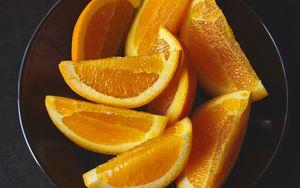 Preview wallpaper orange, fruit, slices, citrus, dish