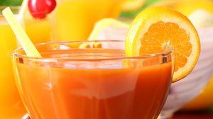 Preview wallpaper orange juice, oranges, fresh