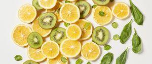 Preview wallpaper orange, kiwi, fruit, slices, citrus