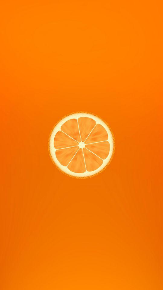 540x960 Wallpaper orange, minimalism, slice