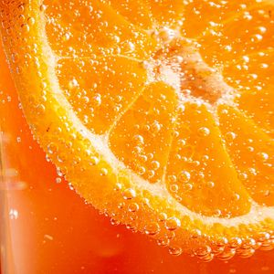 Preview wallpaper orange, slice, bubbles, macro