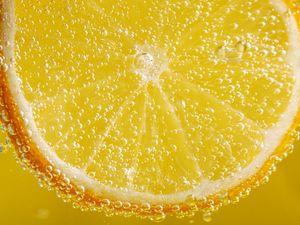 Preview wallpaper orange, slice, bubbles, macro, liquid
