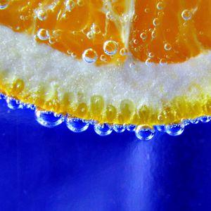 Preview wallpaper orange, slice, drop, macro