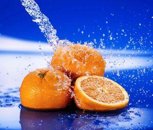 Preview wallpaper orange, slice, fruit