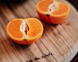 Preview wallpaper orange, slices, citrus, fruit, board