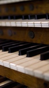 Preview wallpaper organ, keys, musical instrument, music