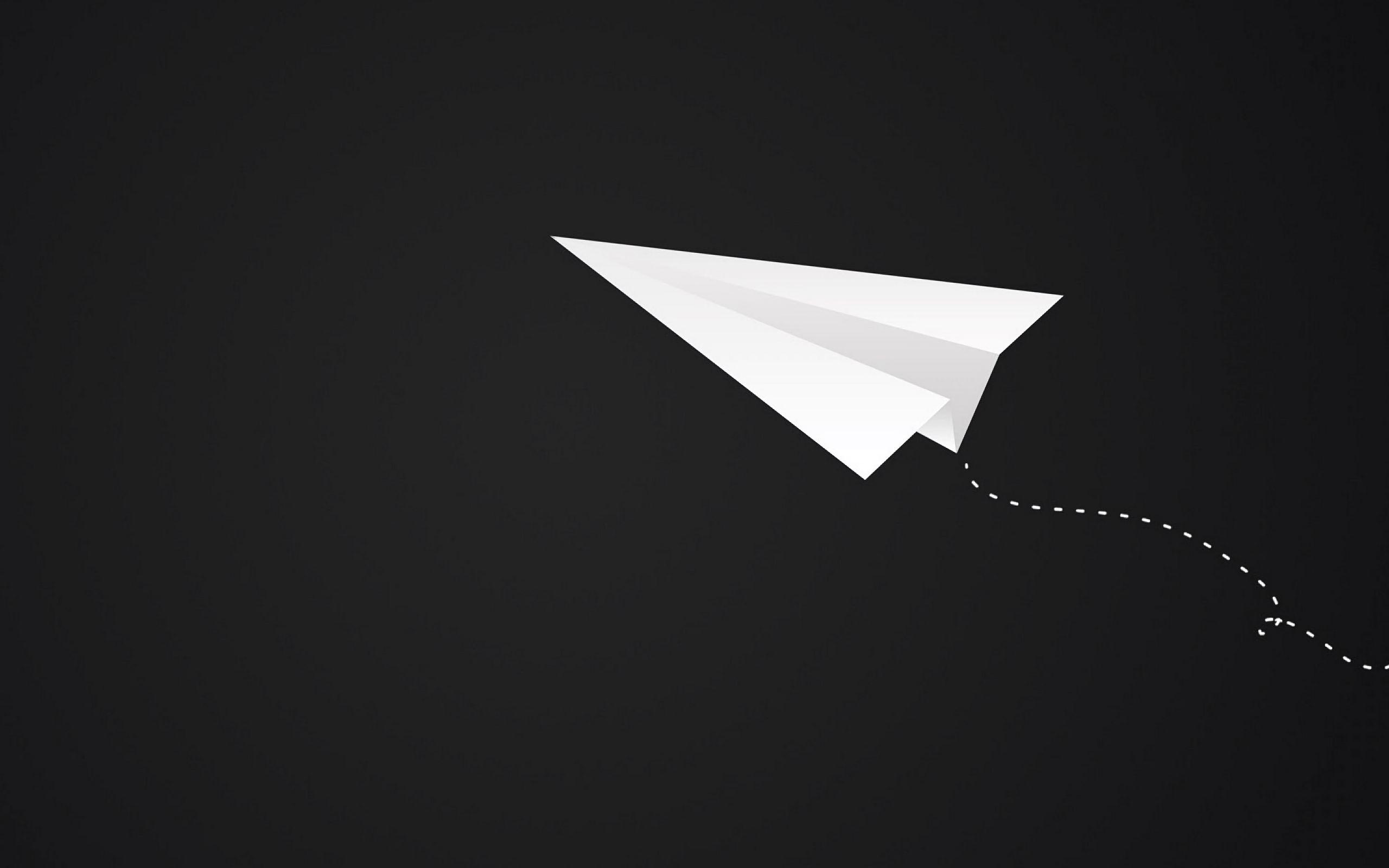 2560x1600 Wallpaper origami, plane, art, paper, minimalism