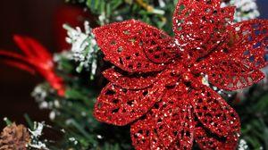 Preview wallpaper ornament, christmas ornaments, poinsettia, decoration