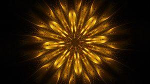 Preview wallpaper ornament, fractal, patterns, golden