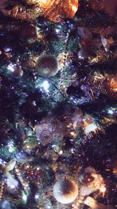 Preview wallpaper ornaments, christmas tree, christmas, new year