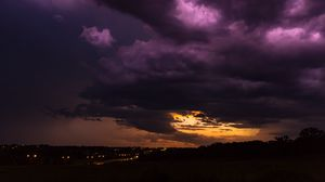 Preview wallpaper overcast, cloudy, clouds, night, urbandale, united states