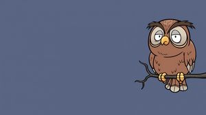 Preview wallpaper owl, art, minimalism
