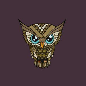 Preview wallpaper owl, minimalism, art