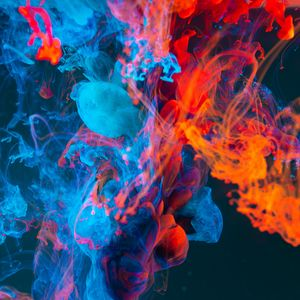 Preview wallpaper paint, liquid, abstract, colorful, thicken
