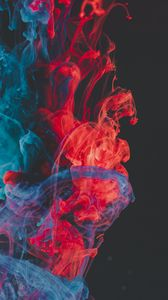 Preview wallpaper paint, liquid, clots, abstract