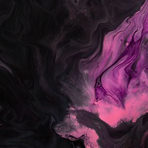 Preview wallpaper paint, stains, pink, black, liquid