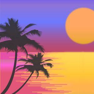 Preview wallpaper palms, vector, art