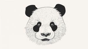 Preview wallpaper panda, art, muzzle