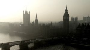 Preview wallpaper panorama, city, london, westminster palace, bridge, river, thames, tower, big ben