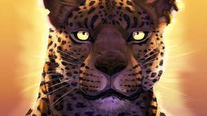 Preview wallpaper panther, leopard, predator, muzzle