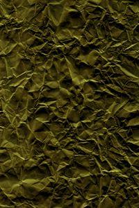 Preview wallpaper paper, folds, crumpled, green, texture