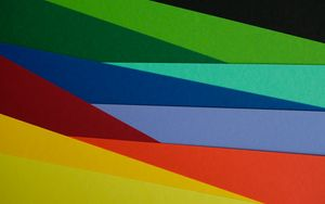Preview wallpaper paper, multicolored, rainbow, colors