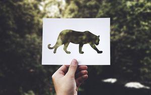 Preview wallpaper paper, predator, art, hand