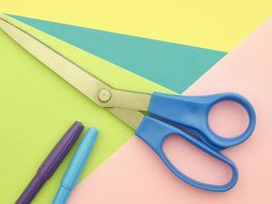Preview wallpaper paper, scissors, creativity, bright
