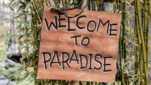 Preview wallpaper paradise, phrase, words, inscription