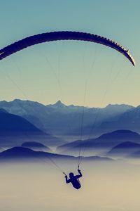 Preview wallpaper paragliding, sky, flight