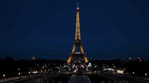 Preview wallpaper paris, france, eiffel tower, city, night, lights