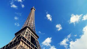 Preview wallpaper paris, france, eiffel tower, sky, architecture
