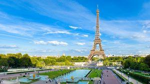 Preview wallpaper paris, france, eiffel tower, sky, blue